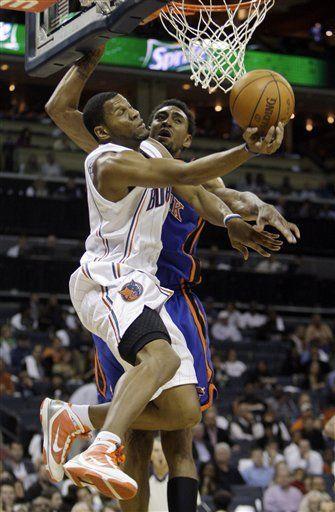 NBA: Bobcats 102, Knicks 100, en segundo tiempo extra