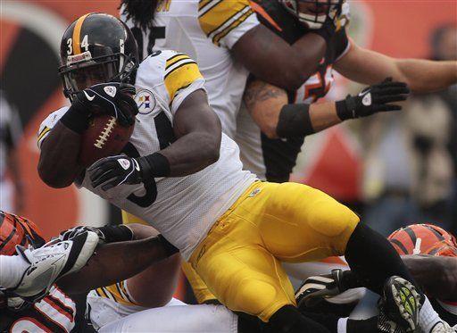NFL: Steelers 24, Bengals 17; Mendenhall logra dos intercepciones