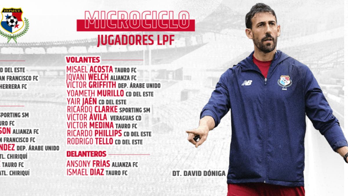 Anuncian convocatoria para microciclos de la Selección de Panamá con jugadores de la LPF