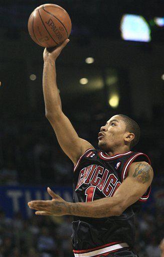 NBA: Bulls 103, Thunder 96; Rose mete 25 puntos