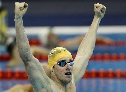 Magnussen gana 100 metros estilo libre; Cielo es 4to