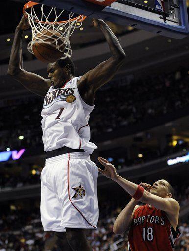 NBA: 76ers 115, Raptors 106; Dalembert mete 19