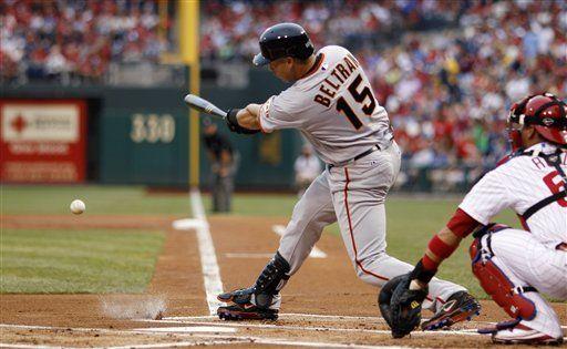 MLB: Gigantes 4, Filis 1; debuta Beltrán con San Francisco