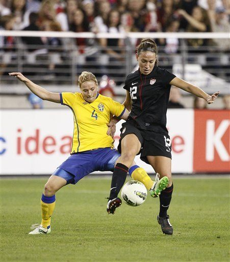 Tobin Heath anota a los 81 minutos, EEUU empata 1-1 con Suecia
