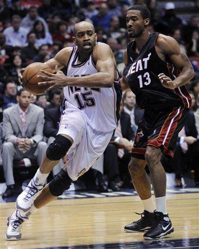 NBA: Nets 96, Heat 88, Vince Carter encesta 17 puntos