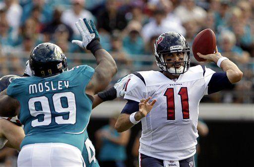 NFL: Texans 20, Jaguars 13; Leinart se lesiona