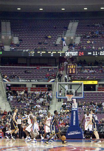 NBA: Pistons 96, Pacers 88; Frank gana al fin