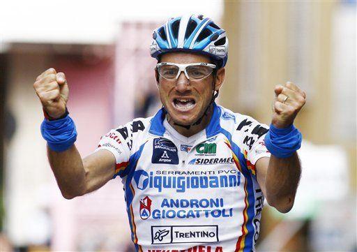 Giro: Bertolini gana 11ra etapa; Visconti sigue de líder general