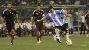 Argentina vence 1-0 a Venezuela en amistoso