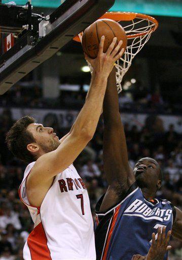 NBA: Bobcats 102, Raptors 89