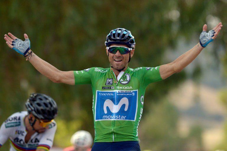 Alejandro Valverde gana al esprint la etapa 8 de la Vuelta