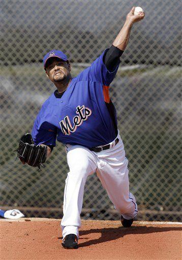 Santana quiere lanzar por los Mets el día inaugural
