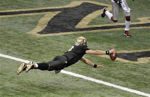 NFL: Saints 49, Giants 24; Brees lidera la paliza
