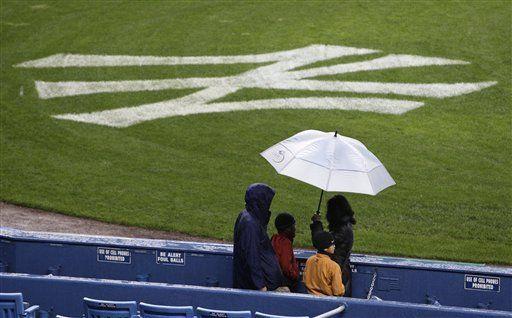 MLB: Suspendido por lluvia, el juego Yanquis-Mets