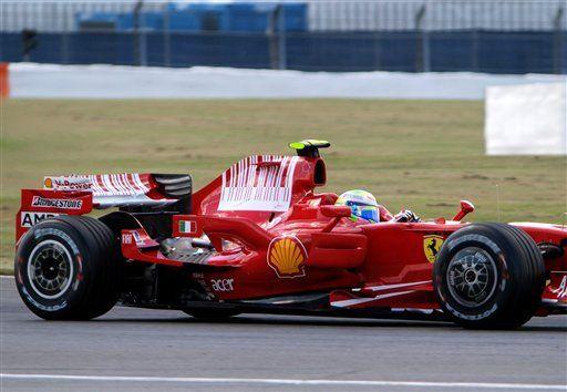 F1: Massa choca en ensayos del GP de Gran Bretaña