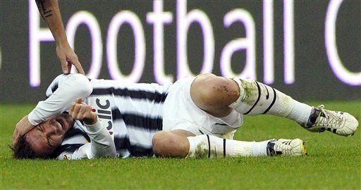 Del Piero es dado de alta tras golpe en la cabeza
