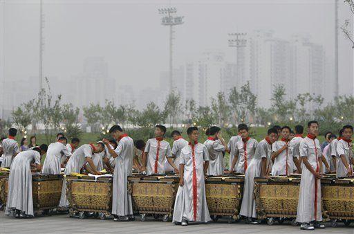 Primer atisbo a inauguración de Juegos de Beijing