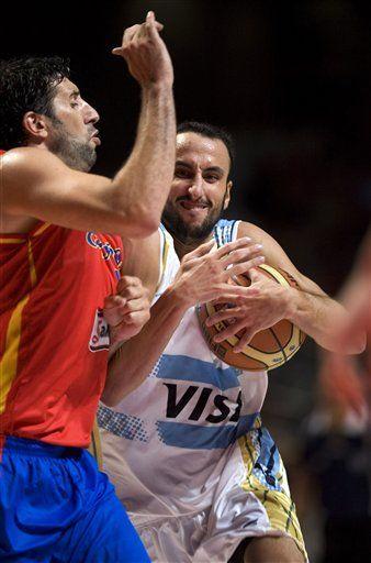 España derrota a Argentina en amistoso de básquetbol