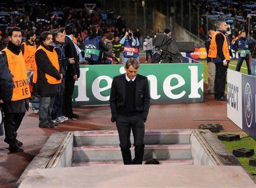 Mancini: Manchester City no ganará la Liga de Campeones