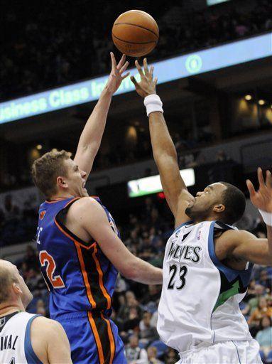 NBA: Knicks 102, Timberwolves 94