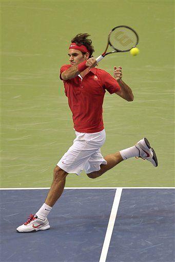 Davis: Federer gana y Suiza aventaja 2-0 a Portugal
